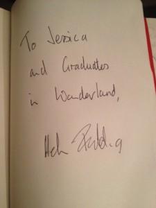 Helen Fielding's autograph