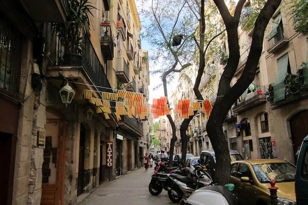 barcelona catalon flags